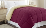 Reversible Down Alternative Anemone/Wheat Comforter Queen Size