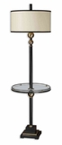 Revolution End Table Floor Lamp with Metal Accents Brand Uttermost