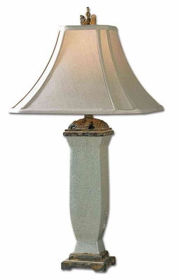 Reynosa Porcelain Table Lamp in Light Blueish Grey Brand Uttermost