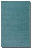 Rhine Cerulean Blue 5' Rug Detailed in Linear Loop and Cut Pile Brand Uttermost