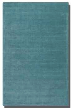 "Rhine Cerulean Blue 5"" Rug Detailed in Linear Loop and Cut Pile Brand Uttermost"