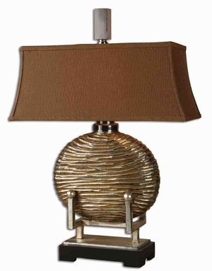 Rhona Modern Table Lamp with Nickel Plated Accents Brand Uttermost