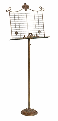 Elegant Copper Finish Metal Music Stand - 63203 by Benzara