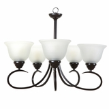 Ribbon Falls Attractively Styled 5 Lights Chandelier in Oil Rubbed Bronze by Yosemite Home Decor