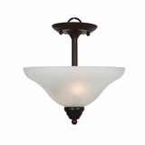 Ribbon Falls Breath-taking 2 Lights inverted Pendant in Oil Rubbed Bronze Finish by Yosemite Home Decor