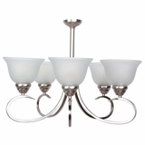 Ribbon Falls Charming 5 Lights Chandelier in Satin Nickel Finish by Yosemite Home Decor