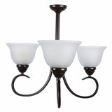 Ribbon Falls Classic 3 Light Chandelier in Oil Rubbed Bronze by Yosemite Home Decor