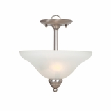 Ribbon Falls Outrageously Styled 2 Lights in inverted Pendant inaction Nickel Finish by Yosemite Home Decor