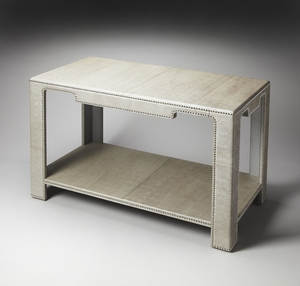 """Ricci Leather Console Table 48""""W by Butler Specialty"""