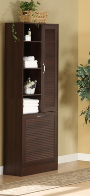 Rich and Beautiful Utility Storage Brown Tower by 4D Concepts