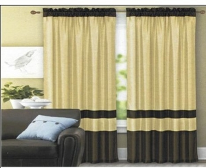 Rich And Elegant Iris Terracots Style Faux Silk Panel Curtain Brand Kashi