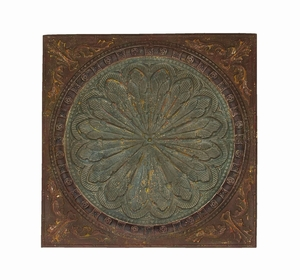 Rich And Illustrious Wall Decor With Byzantine Floral Design Brand Woodland