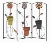 "Rich and Sophisticated Metal Plant Screen with 36"" Height Brand Woodland"