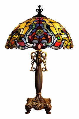 Rich and Textured Victorian Table Lamp by Chloe Lighting