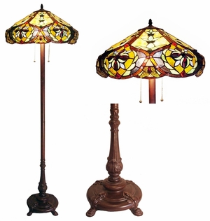 Rich and Vivid Victorian Floor Lamp by Chloe Lighting