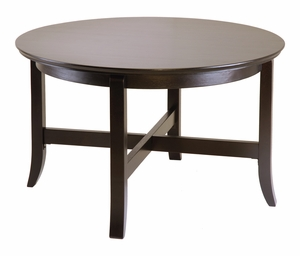 Rich Brown and Stylish Round Coffee Table by Winsome Woods