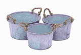Rich Looking Metal Planter in Antique Finish (Set of 3) Brand Woodland