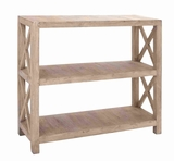 "Rich Sleek 44""H Wooden Bookcase with Sturdy Construction Brand Woodland"