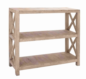 """Rich Sleek 44""""H Wooden Bookcase with Sturdy Construction Brand Woodland"""