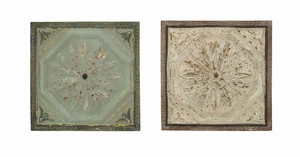 Rich Wall Decor With Roman Hand Etched Floral Design Brand Woodland
