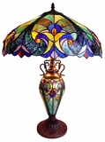 Richly Textured Victorian Table Lamp by Chloe Lighting