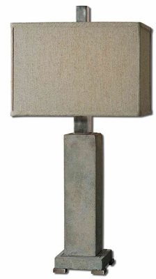 Risto Concrete Table Lamp with Intricate Detailing Brand Uttermost