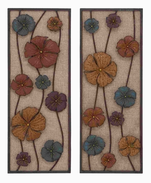 Robust Design Metal Wall Panel in Urbane Finesse (Set of 2) Brand Woodland