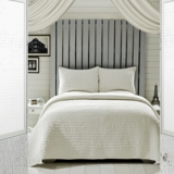 Rochelle Creme Queen Set; 1-Quilt 90x90 w/2 Shams 21x27