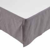 Rochelle Grey Twin Bed Skirt 39x76x16