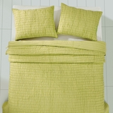 Rochelle Lime Sherbet Twin Set; Quilt 86x68-1 Sham 21x27 - 25499 by VHC Brands