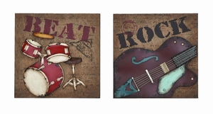 Musical Rock And Roll Instrument Wall Decor - 56047 by Benzara