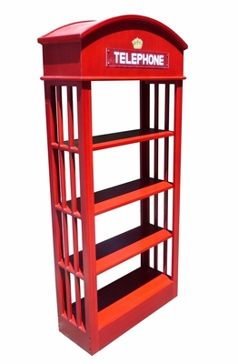 Roeselare Telephone Bookcase, Fabulously Carved Radiant Creation by D-Art