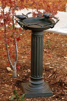 Roman Birdbath With Birds With Royal Garden Decor Appeal Brand SPI-HOME