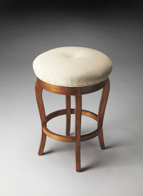 Romantic Dawson Olive Ash Burl Stool by Butler Specialty