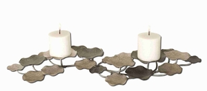 Romantic Lying Lotus Candle Holder In Hand Forged Metal Brand Uttermost