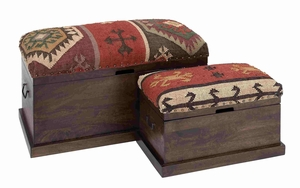 Rome Traditionally Designed Enduring Trunk Pair Brand Benzara