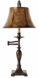 Romina Swing Arm Table Lamp with Rubbed Patina Finish Brand Uttermost