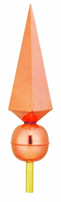 Lancelot Polished Copper Finial by Good Directions