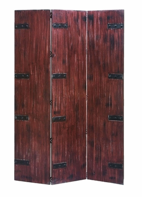 Room Divider Wooden Traditional Three Panel Screen Brand Woodland