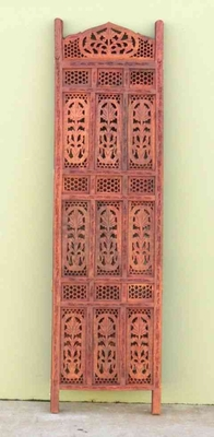 Room Dividing Screen - Hand Carved Maple Jali Sheesham Screen Brand IOTC