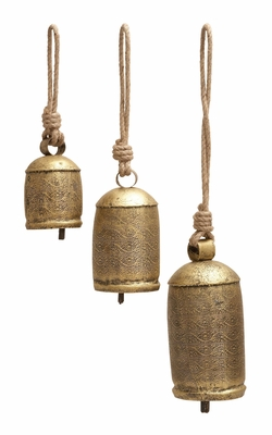 Rope Bell Set Of Three Perfect Choice For Unique Decor Enthusiasts Brand Woodland