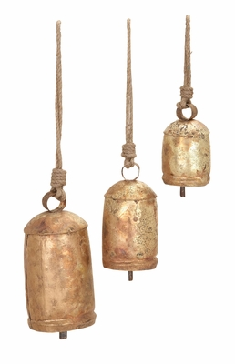 ROPE COW BELL SET/3 With Beautiful Design Over The Surface Brand Woodland
