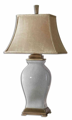 Rory Table Lamp with Bronze Detailing in Sky Blue Brand Uttermost
