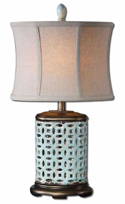 Rosignano Buffet Lamp with Silver Champagne Detailing Brand Uttermost