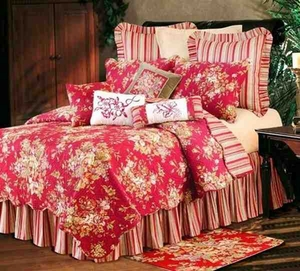 Rossa Colorful Cotton  Quilt Luxury Os King  Bedding Ensembles Brand C&F