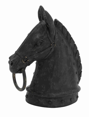 Rostock Horse Head Eye-catching Enchanting Art Sculpture Brand Benzara