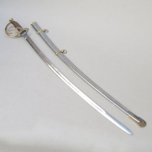 Rostock Sabre With Scabbard, Strong And Substantial Cavalry Artifact Brand IOTC