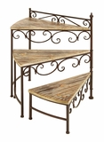 Rotating Stair Step Planter Stand For Your Plants Brand Woodland