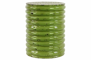 Round Alluring Attractive Green Metal Stool