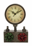 Round Face Metal Clock with Roman Numerals - Old World Charm Brand Woodland